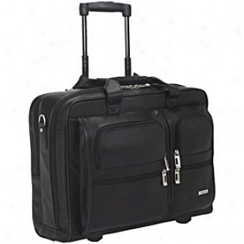 Solo Business Briefcases Nappa Leatber Rolling Computer Portfolio