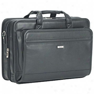 Solo Business Briefcases Nappa Leather Soft Overnithtrr/computer Portfolio