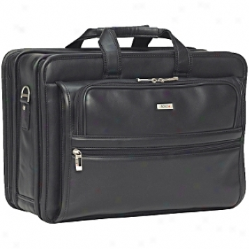 Solo Business Briefcases Nappa Leather Wise-body Computer-friendly Portfolio