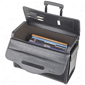 Solo Business Briefcases Vinyl Rolling Catalog Case