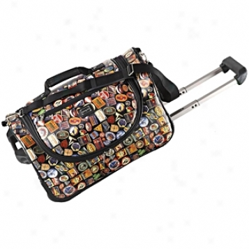 Sydney Love Travel          Vintage Hotels Wheeled Duffel