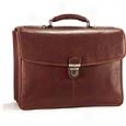 Tony Perotti Green Collection Bella Russo 17in. Laptop Triple Compartment