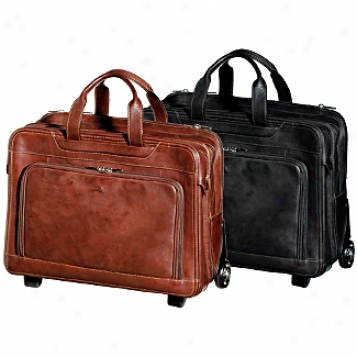 Tony Perotti Green Collection Torino 17in.  Wheeled Laptop Briefcase