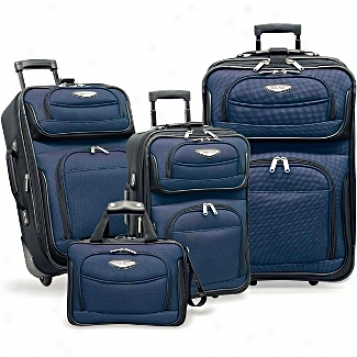 Travelers Choice Discount Luggage And Sets Amsterdam 4-piee Set