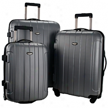 Travelers Choice Rome Hard Shell Spinner 3 Piece Set