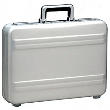 Zero Halliburton Aluminum Attaches 3in. Silver Premier Attache