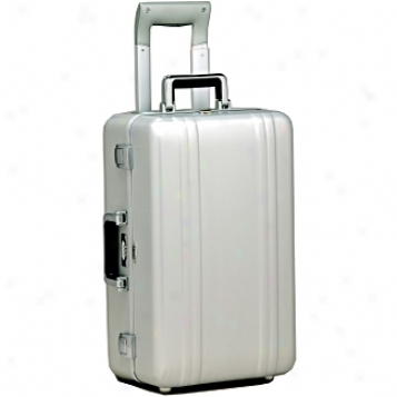 Zero Halliburton Zeroller Luggage W/tsa Locks 21in. Silver Carry-on W/suiter