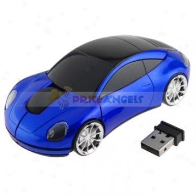 10m 2.4g 1600dpi Usb2.0 Wireless Optical Mouse For Pc Laptop(blue)