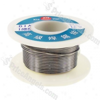 1.0mm Solid Solder Wire Core Roll - 1.2% Flux