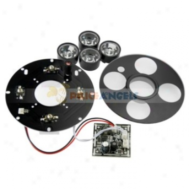110mm 4-led Protection Camera Ir Infrared Illuminator Food Plate With 30 Degree Lens