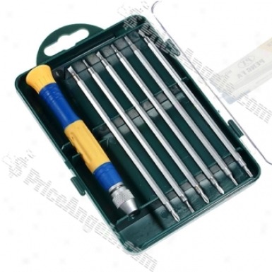 12-tip 6-piece Set Exactness Screw Drivers