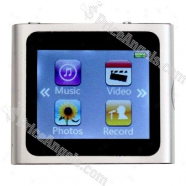 1.5-inch Lcd Touch Screen Mp3/mp4 Portable Media Player By the side of Fm Radio-silver(4gb)