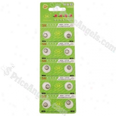 1.55v Ag4/lr626/377a/sr626/177 Button Cell(10-pack)