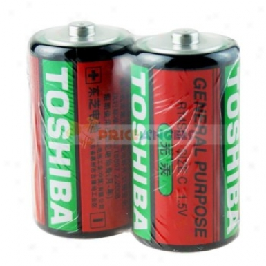 1.5v Toshiba Size C Disposable Batteries (2-pack)