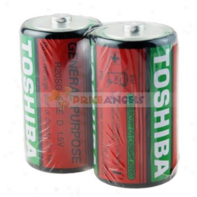 1.5v Toshiba Size D Disposable Batteries (2-pack)