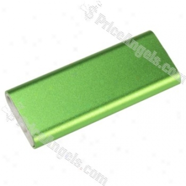 2-inch Portable 2gb Mp3 Player With Clip(green)