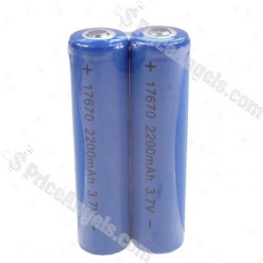 2200mah 3.7v 17679 Rechargeable Battery(2-pack)