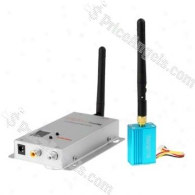 2.4ghz 100mw 4-channels Wireless Audio &ajp; Video Transmitter/receiver Set