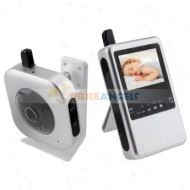 2.4ghz Rechargeable Digital Wireless Camera Audio Video Baby Monitor Monitor With 2.4-inch Lcd Digital Receiver(silver)