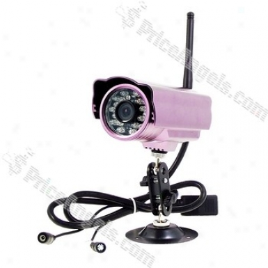 2.4ghz Wifi Wirel3ss Network Ir Ip Surveillance Security Camera With 18-led Ir Night Sight (120 Angle)