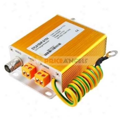 3 In 1 Cctv Video/data/power Lightning Surge Protection Arrester(golden)