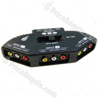 3-port Av Audio - Viddeo Signal Switcher