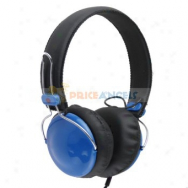 3.5mm Jack Adjustable Headphone Earphone Headset For Mp3/cell Phone/computer(blue)