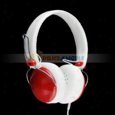 3.5mm Jack Adjustable Headphone Earphone Headset For Mp3/cell Phone/computer(red)