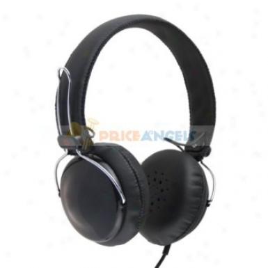 3.5mm Jack Adjustable Headphone Earphone Headset For Mp3/cell Phone/computer(black)