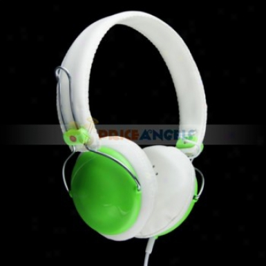 35mm Jack Adjustable Headphone Earphone Headset For Mp3/cell Phone/computer(green)