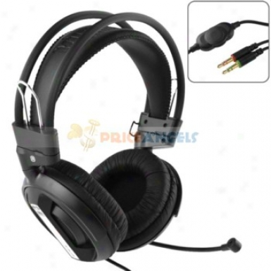 3.5mm Jack Adjustable Headphone Earphone Headset With Microphone/volume Control During Mp3/cell Phone/computer(black)