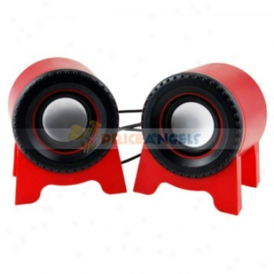 3d Sound Stereo Soundbox Usb 2.0 Desktop Speaker For Laptop Computer(red)