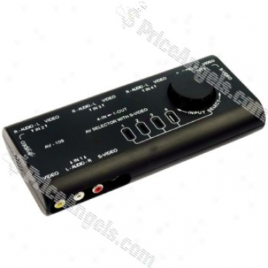 4-port Composite / S-video Av Media Signal Switch Box