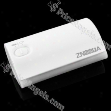 4800mah External Battery Pack For Iphone/cell Phone/psp With Cellphone Adapters(white)