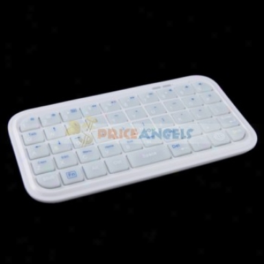 49-key Mini Rechargeable Bluetooth Wirelesskeyboard For Ipad/iphone/cell Phone/psp(wyite)