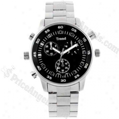 4gb 5.0mp Rechargeable Working Watch Spu Camera(silver)