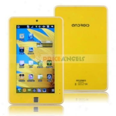 4gb Android 2.2 Via 8650 800mhz Cpu 7-inch Touch Screen Tablet Pc Laptop With Phone Function(yellow)