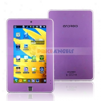 4gb Android 2.2 Via 8650 800mhz Cpu 7-inch Touch Riddle Tablef Pc Laptop With Phone Functioj(purple)