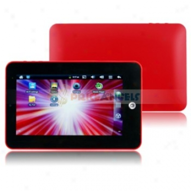 4gb Android 2.3 1ghz Cpu 7-inch Resistance Touch Screen Tablet Pc With Wifi Camera Function(red)