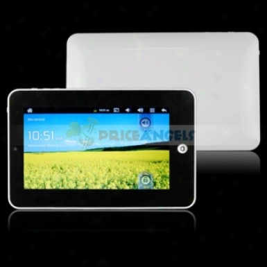 4gb Android 2.3 1ghz Cpu 7-inch Resistance Touch Screen Tablet Pc With Wifi Camera Function(white)