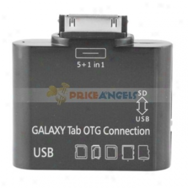 5 In 1 Otg Camera Connection Kit Card Reader Usb Sd Ms Tf For Samsung Galaxy Tab