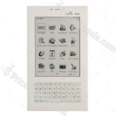 5-inch Lcd Screen Mp3 Player/fm/bluetooth/sd Slot Mobile Phone E-book(white)