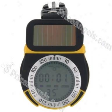 6 In 1 Solar Powered Multifunction Digital Altimeter(black)
