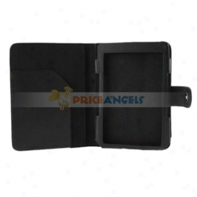 6-inch Elegant Leather Proteective Cae Cover For Kindle 4(black)