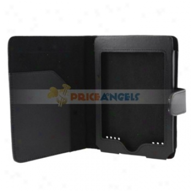 6-inch Polished Leather Protective Case Cover For Kindle Touch(black)