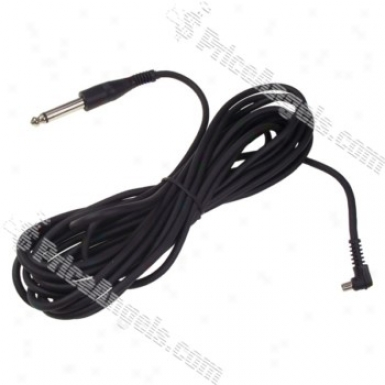 6.5mm Plug To Male Flash Pc Sync Cord Cable(5m)