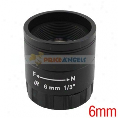 6mm 1/3-inch F1.2 Ir Camera Lens For Cctv/surveillance Camera