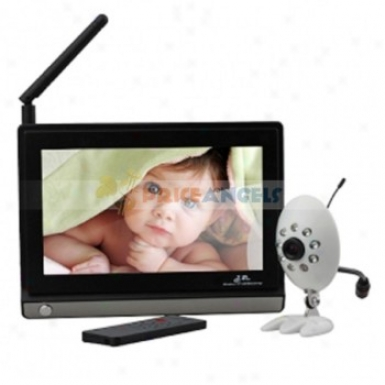 7-inch 2.4g Wireless Baby Monitor & Night Vision Wireless Camera Set With Remote Control