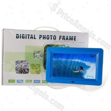 7-inxh Wide Screen Tft Lcd Sd/mmc/ms/usb Digital Photo Frame And Video Player (480*234px)