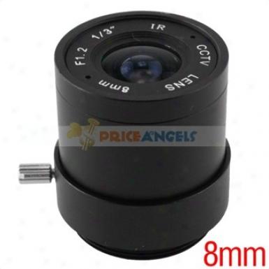 8mm 1/3-inch F1. Ir Camera Lens For Cctv/surveillance Camera